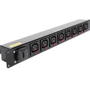 1U Horisontal Lockable IEC C13 Outlet PDU