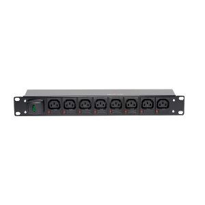 1U Horizontal IEC C13 Fused per Outlet PDU