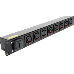 1U Horisontal Lockable IEC C13 Outlet PDU