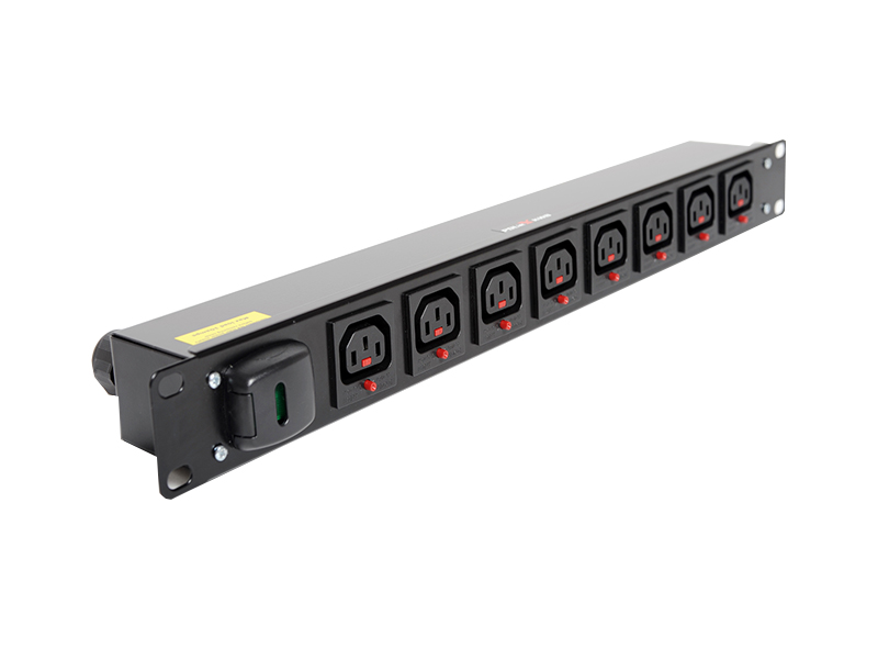 1U Horizontal Lockable IEC C13 Outlet PDU