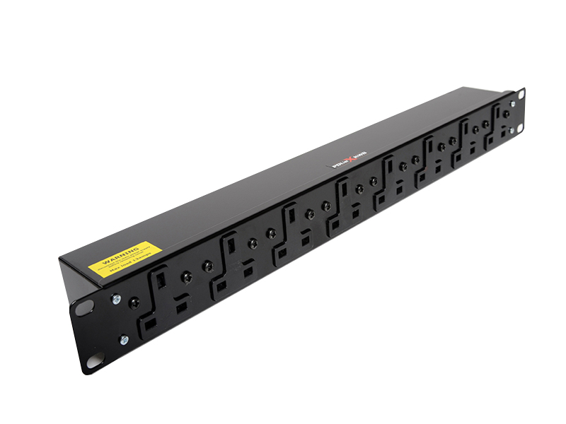 1U Horizontal 13A T-Socket Outlet PDU