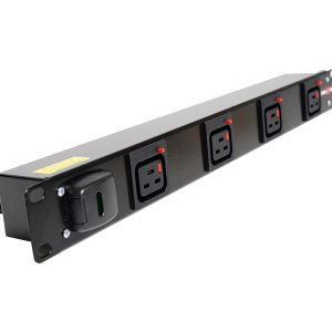 1U Horizontal IEC C19 outlet PDU